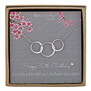 30th Birthday Infinity 3 Circle Necklace