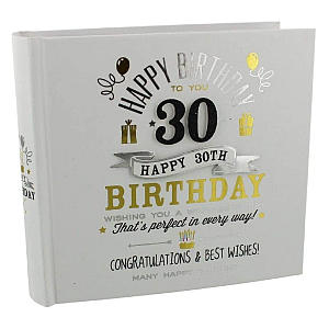 30th Black and Gold Design Photo Album