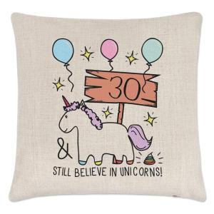 30th Cheers Unicorn Cushion