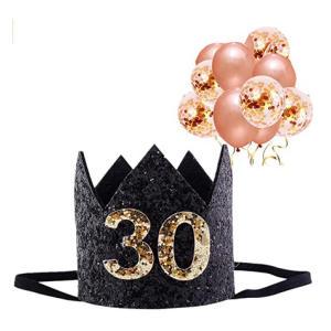 30th Glitter Birthday Crown