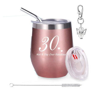 30th Pink Insulated Travel Tumbler