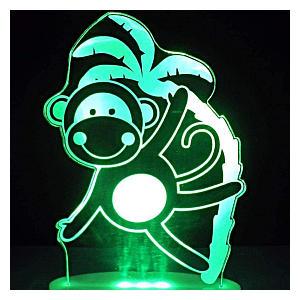 3D LED Monkey Lamp