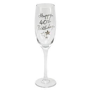40th Birthday Champagne Flute