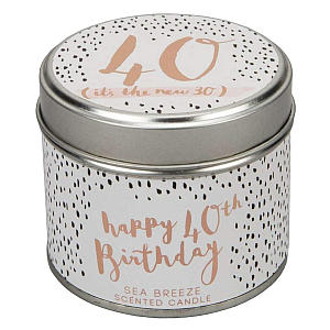 40th Birthday Scented Candle