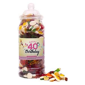 40th Birthday Sweet Jar
