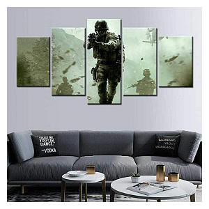 5 Part Call of Duty Canvas
