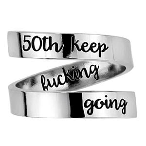 50th Personalised Adjustable Ring