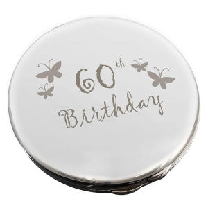 60th Birthday Round Compact Mirror