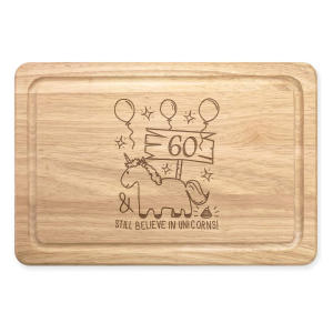 60th Birthday Unicorn Chopping Board