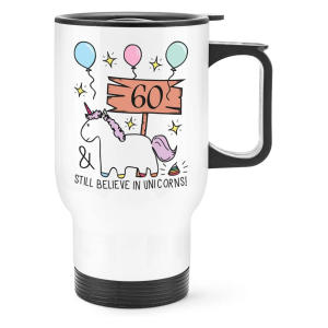 60th Unicorn Travel Mug