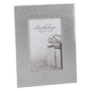 70th Birthday Glitter Mirrored Glass Frame