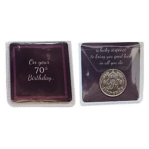 70th Birthday Lucky Sixpence