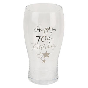70th Birthday Pint Glass