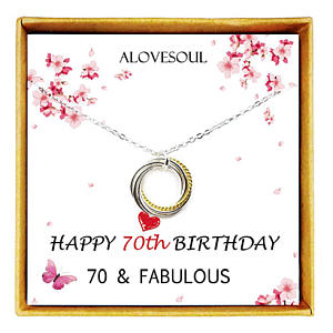 70th Birthday Seven Circle Necklace