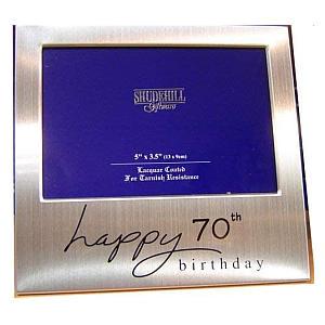 70th Birthday Silver Photo Frame
