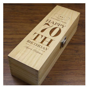 70th Luxury Wooden Wine Or Champagne Box