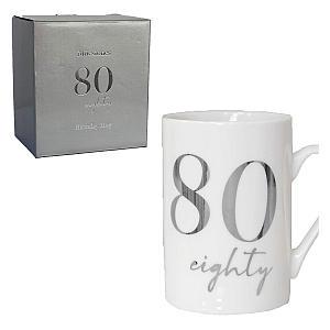 80 White Bone China Mug