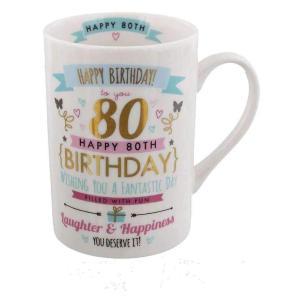 80th Birthday Pink And Gold Mug