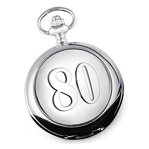 80th Birthday Pocket Watch