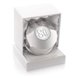 80th Birthday Silver Plated Trinket Box