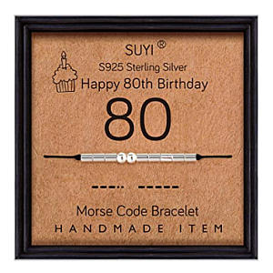80th Morse Code Bracelet