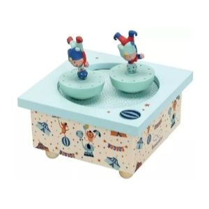 Trousellier Acrobats Spinning Music Box