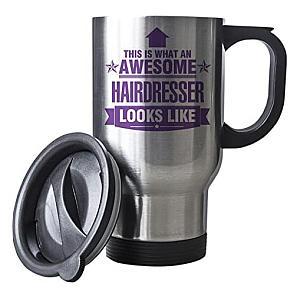 Awesome Hairdresser Travel Mug