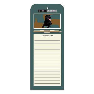 Black Labrador Magnetic Notepad