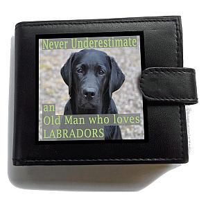 Black Labrador RFID Theft Wallet