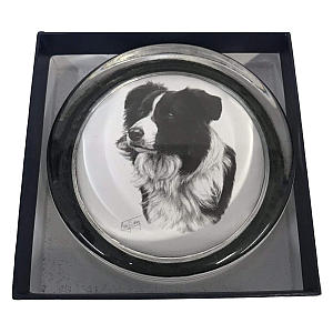 Border Collie Glass Paperweight