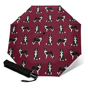 Border Collie Print Fast Drying Travel Umbrella