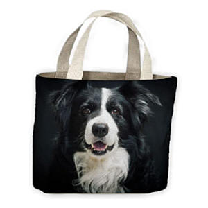 Border Collie Shopping Tote Bag