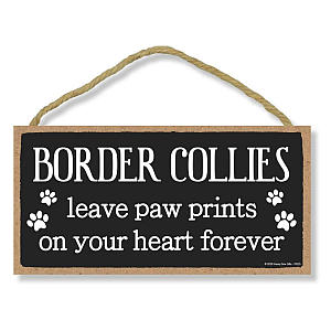 Border Collie Wooden Sign