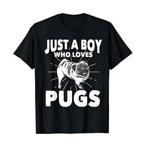 Boy Who Loves Pugs T-Shirt