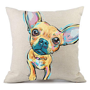 Chihuahua Dog Pattern Cushion Cover