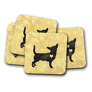 Chihuahua Drinks Coasters Set