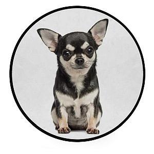 Chihuahua Round Foam Soft Rug