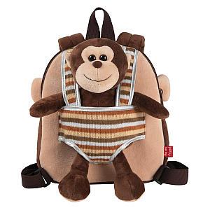Children's Plush Monkey Backpack