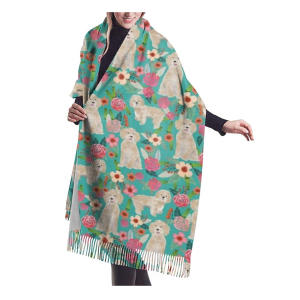 Cockapoo Dog Floral Scarf