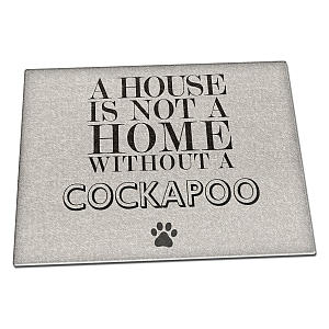 Cockapoo Glass Chopping Board