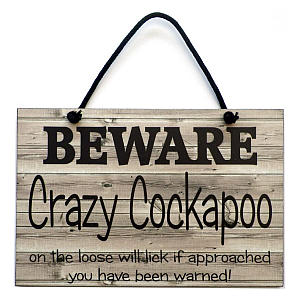 Cockapoo Wooden Hanging Sign