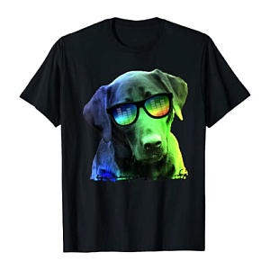 Colorful Dog Labrador T-Shirt