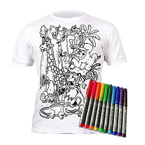 Colour-in Zoo Animals T-Shirt