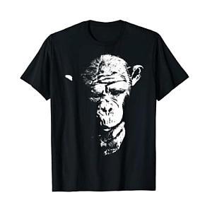 Cool Thinking Monkey T Shirt