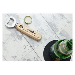Custom 50th Wooden Bottle Opener