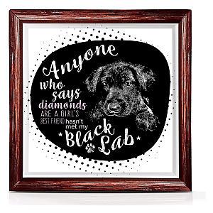 Cute Black Lab Original Dog Art