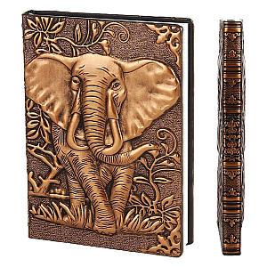 Elephant Embossed Hardcover Notebook