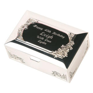 Engraved 80th Birthday Trinket Box