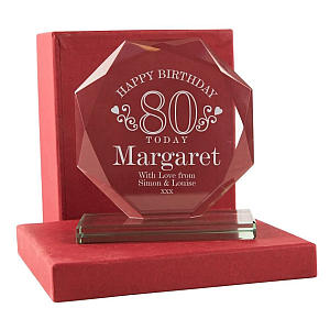 Engraved 80th Glass Award