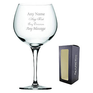 Engraved Gin Bubble Glass